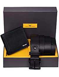 Urban Forest Brian Leather Wallet & Belt Combo Gift Set for Men