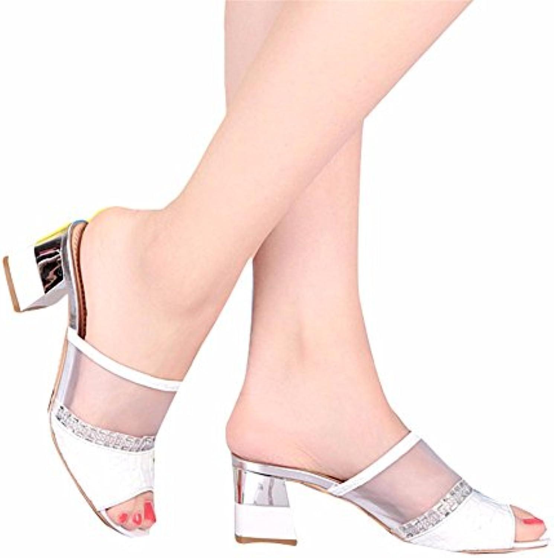 YUCH abbigliamento YUCH Donne Sandali Sandali Sandali PU Maglia Traforata di Lavoro Elegante Pantofole Estate | Grande Vendita Di Liquidazione  e17016