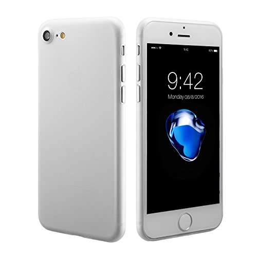Custodia di iphone 7, custodia iphone 8, 0,3 mm ultraslim caso sottilissimo duro custodia protettiva mat semi transparente copertura cover per iphone 7 (2016) /iphone 8(2017)4.7 pollici bianco