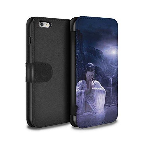 Officiel Elena Dudina Coque/Etui/Housse Cuir PU Case/Cover pour Apple iPhone 6+/Plus 5.5 / Masque d'Hiver Design / Un avec la Nature Collection Lagune À la Nuit