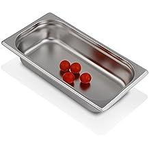 Greyfish GN-Behälter :: ungelocht :: für Gaggenau / Miele / Siemens Dampfgarer (Edelstahl / Spülmaschine geeignet, Gastronorm 1/3, B 32,5 x T 17,6 x H 6,5 cm)