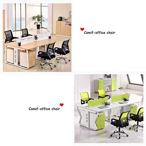 Afanyu Afanyu Ergonomic Staff Chair, mehrfarbiger rotierender Modebürostuhl, [Schwerkraft mit hoher Tragfähigkeit | Federteller], geeignet für die Beschaffung von Firmenbüros,Grün