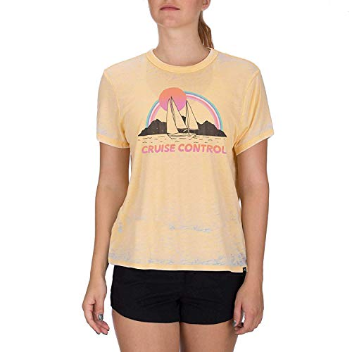 Hurley Damen T-Shirt W Cruise Control Burnout Tee, Black Htr, M, BQ2596 -