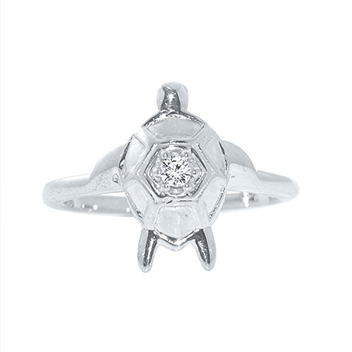 Silver Dew Jewelry CZ Diamond White Gold Plated Tortoise Adjustable Ring For Women & Girls  available at amazon for Rs.99