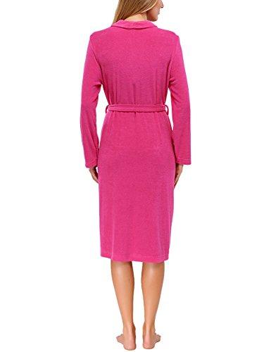 Schiesser Damen Bademantel 144040 Rosa (pink 504)