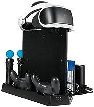 WenYOUNG ökonomische und praktische vertikale Kühl-Ständer Ladestation für PS4 Slim Pro VR Controller
