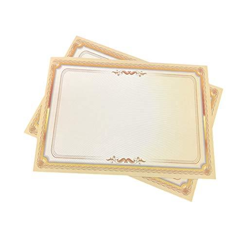 STOBOK 20 stücke A4 Horizontale und Vertikale Farbverlauf Metallic Gold Grenze Zertifikat Papier -