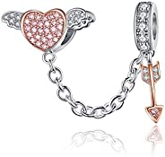 Love Heart Authentic Original 100% 925 Sterling Silver Charm Bead Beautiful Crystal Bow Charms Fit Pandora Cha