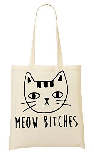 C+P Meow Bitches Kitten Tragetasche Einkaufstasche