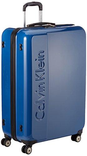 Calvin Klein – Maleta tip trolley con reudas, 80 cm, 110 L, Azul