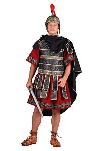 Legion Römischen Kostüm - Thetru Römer-Kostüm Deluxe in weinrot/schwarz/Gold | Größe XXL | Legionär zu Karneval und Fasching