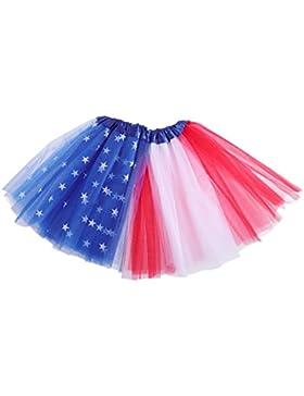 OULII Tutu per bambini Vestito con tutu bandiera americana per la festa dell'indipendenza del 4 luglio