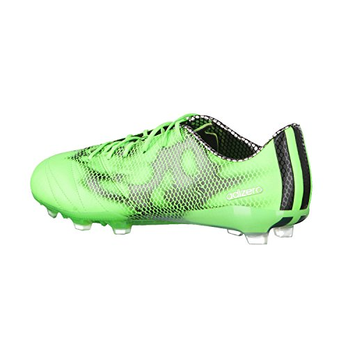adidas F50 Adizero Firm Ground (Leather), Calcio scarpe da allenamento uomo Verde - solar green/ftwr white/core black