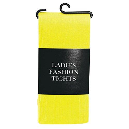 Bristol Novelty BA795 Strumpfhose, Gelb, Damen, Einheitsgröße (Harlekin Kostüm Männlich)