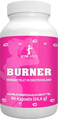 GYMLADYS Burner | 90 Kapseln | Hergestellt in Deutschland (Guarana Burner Fat)
