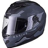 Agrius Rage SV Tracker Motorcycle Helmet L Matt Black