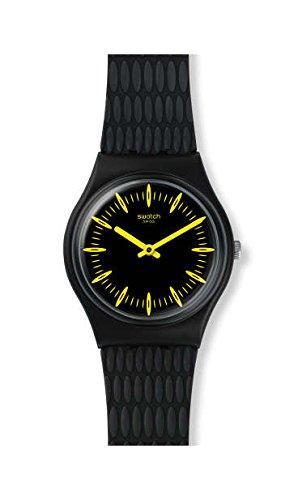 Orologio Swatch Gent GB304 Al quarzo (batteria) Plastica Quandrante Nero Cinturino Silicone