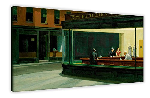 Nighthawks von Edward Hopper Wand Art Prints Pop Art Leinwand Bilder American Art Zimmer Dekoration, canvas, 40