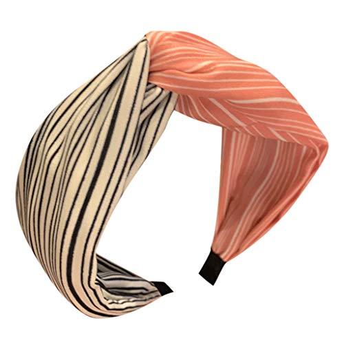 Haarreif Stirnband FüR Damen,Rifuli Haarreif Damen Vintage Breit Haarband Retro Stirnband Haarreifen Mit Knoten Kopf Warp Headband