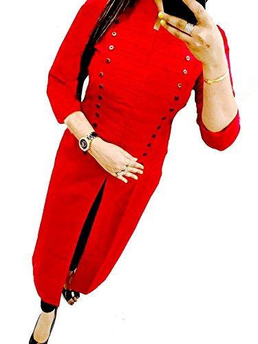 Harikrishnavilla Cotton Slub Floor Length Long Designer Dress With Beautiful Heavy Hand Work On Neck , Kurta/Kurti For Women's/Girls'/Bride BEST Full Party Wear, Women's Designer Kurti/Kurta - COMFORTABLE Princess Style Stitched Long Kurta/Kurti Designer Anarkali Stylish Floor Length And Readymade Party wear Dress For Women Festivel & Party Wear 3/4 Sleeves Kurti/Kurta For Women Girl's & Women's  available at amazon for Rs.799