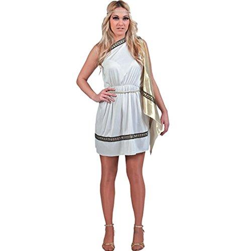 Fyasa 700719Roman Lady costume, bianco, grande