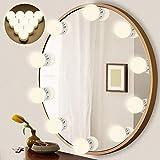 LEDMO Luces Espejo 3200K-6500k estilo Hollywood espejo tocador con luz 10 Bombillas regulables modo de ajuste...
