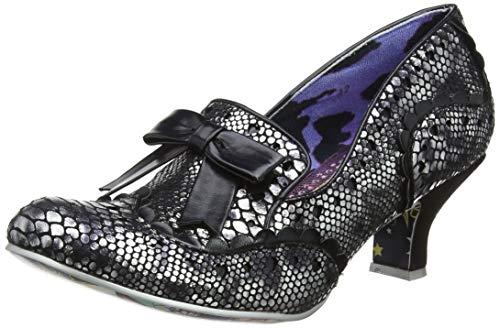 IRRA4|#Irregular Choice Here & Present, Zapatos de tacón con Punta Cerrada para Mujer, Negro Black...