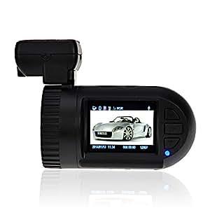 GIZGA® Mini Enregistreur de Conduite Caméra Voiture Audio Vidéo Car DVR 5.0MP Écran LCD Driving Recorder Full HD 1080P