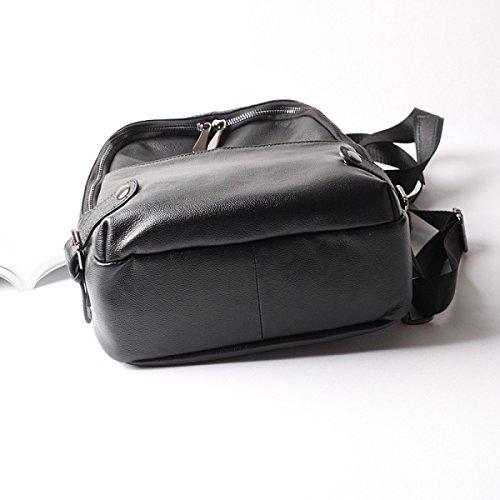 Europäische Und Amerikanische Mode Frühjahr Und Sommer Frauen Schultertasche Lederhandtasche Black