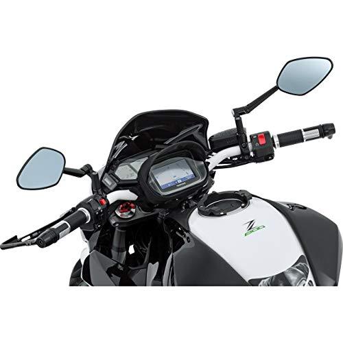 QBag Motorrad-Hecktasche Lenkertasche 01 für Navi/Smartphone, praktischer Blendschutz, Touchscreenbedienung, spritzwassergeschützte Kabeldurchführungen, Schwarz
