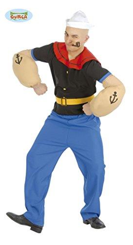 M&m Halloween Blau Kostüm (Seemann Comic Held Karneval Motto Party Kostüm für Herren Matrose Gr. M-XL,)