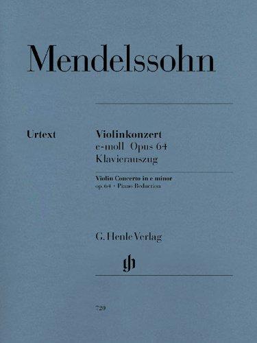 Konzert E-Moll Op 64 Vl Orch. Violine, Klavier