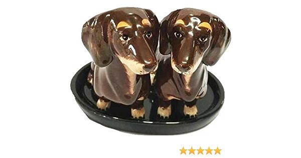 Sale e Pepe ceramica originali cane Bassotto regalo con vassio