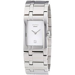 Esprit Damen-Armbanduhr Houston 10 Diamond Analog Quarz Edelstahl ES105682001
