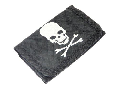 NG Skull & Cross Bones Design Material -Geldbörse mit Klettverschluss -