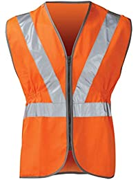 High Visibility Hi Vis Viz Rail Safety Waistcoat GO/RT Zip Vest Jacket