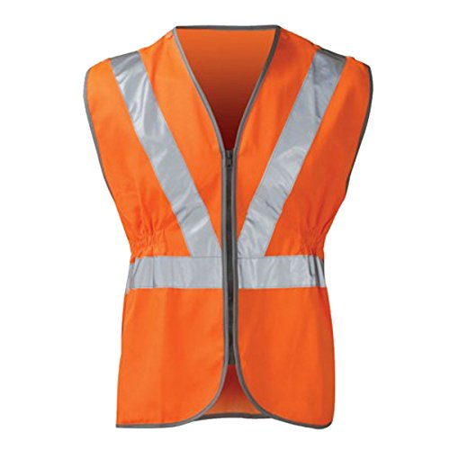 Price comparison product image High Visibility Hi Vis Viz Rail Safety Waistcoat GO / RT Zip Vest Jacket XXL Orange