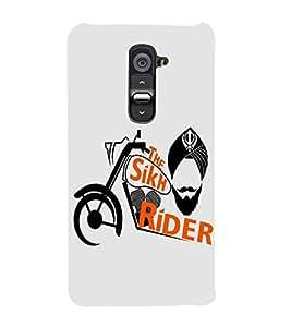 FUSON The Sikh Raider Khanda 3D Hard Polycarbonate Designer Back Case Cover for LG G2 :: LG G2 Dual D800 D802 D801 D802TA D803 VS980 LS980