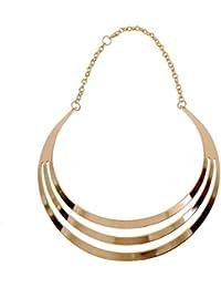 Zillion Golden Metal Choker Necklace For Women & Girls