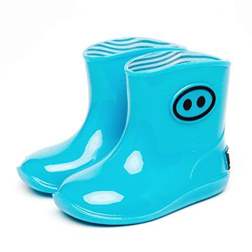 ZJOUJ Regenstiefel- Männer und Frauen Baby wasserdichte Gummi Regen Stiefel, Kinder Schritt auf Wasser Schuhe rutschfeste Stiefel (Farbe : Blau, größe : 29yards) (Jungen Spiderman Stiefel Regen)