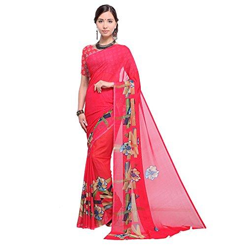 sidhidata textile Georgette Saree With Blouse Piece (D-PRINT 1025_Multi-Coloured_Free Size)