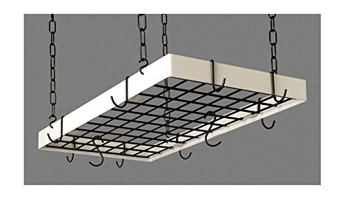 Grid Pot Rack in Classic Black and White Hooks (Classic Black/White) by Rogar Grid-pot-rack