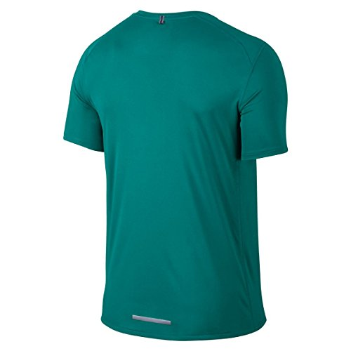 Nike Damen Kurzarm Shirt Dri-Fit Miler T-Shirt Radiant Emerald / Reflective Silver