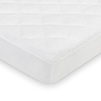 Homfa Crib Mattress Cover Baby Waterproof Breathable Cot Bed Mattress Protector 70 * 140+18