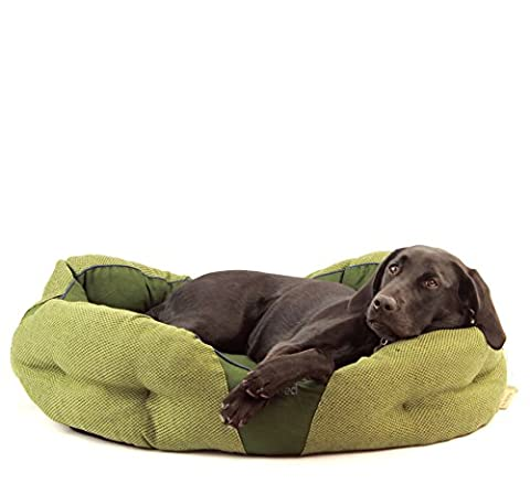 Beco Bed - Hemp and Cotton Hypoallergenic Washable Eco Donut Pet Bed - L - Green by Beco Pets