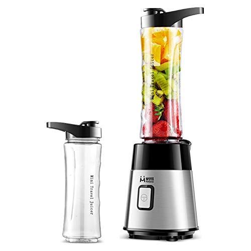 HDH Tragbare Mini Haushalts Entsafter Sojamilch Mixer Elektrische Saft Tasse Multifunktionale Entsafter Wasserflasche Kleine Wiederaufladbare Saft Tasse Gemüsesaft (Farbe : Silver)