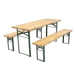 Set birreria in legno tavolo e 2 panche 220x70xh75 cm - Ikea panche da giardino ...