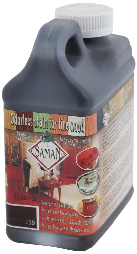 saman-tew-119-32-1-quart-interior-water-based-stain-for-fine-wood-chocolate-by-saman