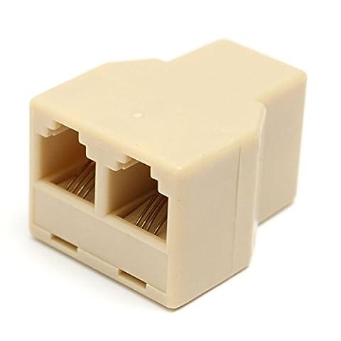 Tutoy 1 Bis 2 Weibliche RJ11 Telefon Telefon Jack Line Y Splitter Adapter Stecker