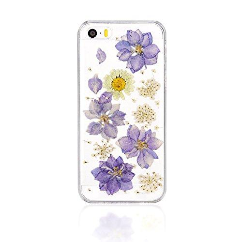 Schutzhülle für iPhone 5/5G/5S, Custom Einzigartige iPhone 5/5G/5S Fall, persönliche Telefon Fall, gepresst Blume Handy SchutzHülle für Iphone 5/5G/5S Color 02